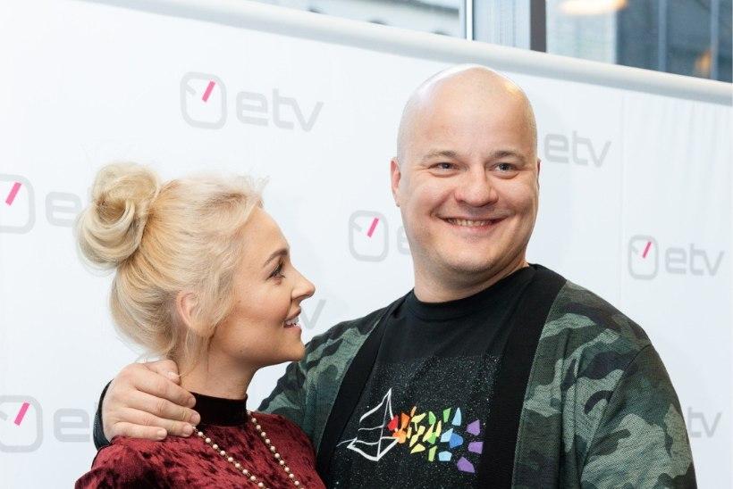 FOTO   Lapseootel Grete Klein säras koos kallima Ergo Kullaga mehe uue teleseriaali esitlusel