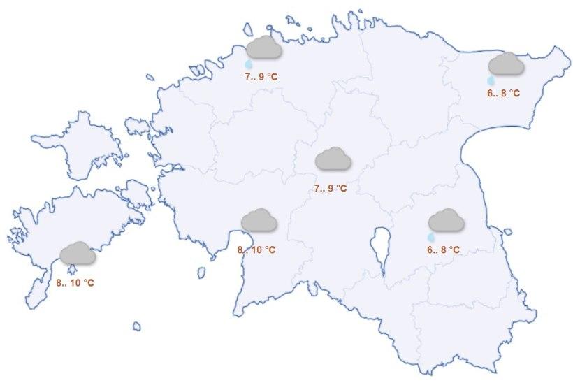 ILMAPROGNOOS: järgmisel nädalal sajab lörtsi ja lund