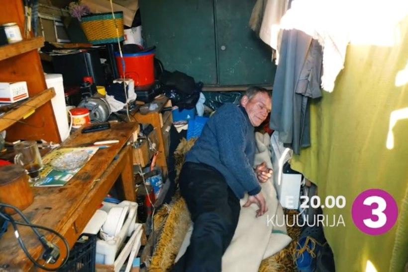 JAHMATAV! Päeva pealt koduta jäänud 80aastane mees ootab talve puukuuris