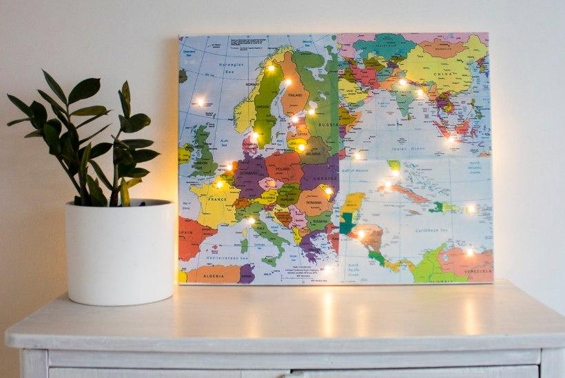 TEE ISE | Meisterda tulukestega maailmakaart ja maailm lööb särama