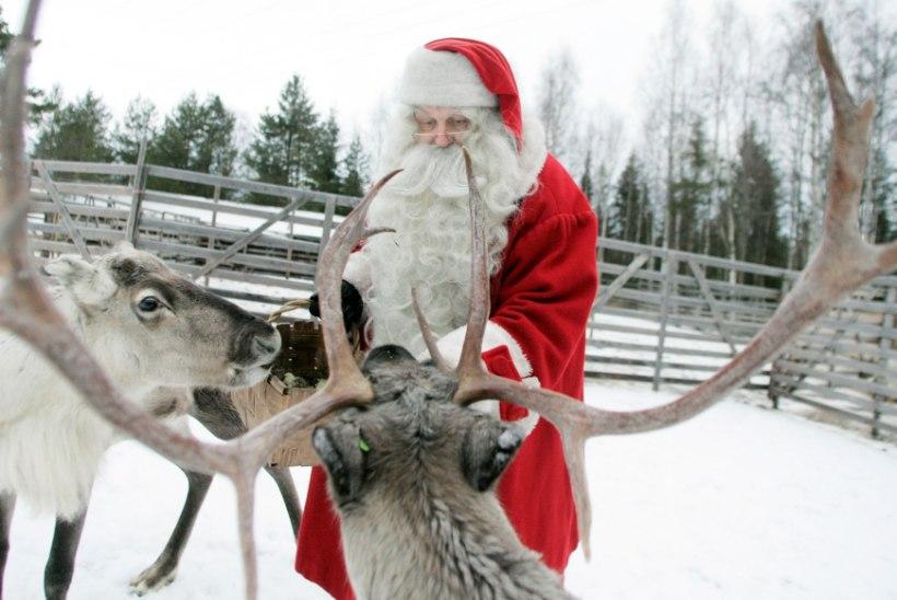 SOTSIAALMEEDIA HITT: jõuluvana käis põhjapõdraga tiirutamas