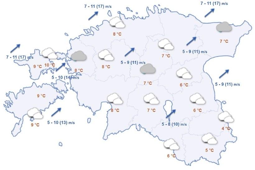 ILMAPROGNOOS: nädalavahetus tuleb jahe ja vihmane