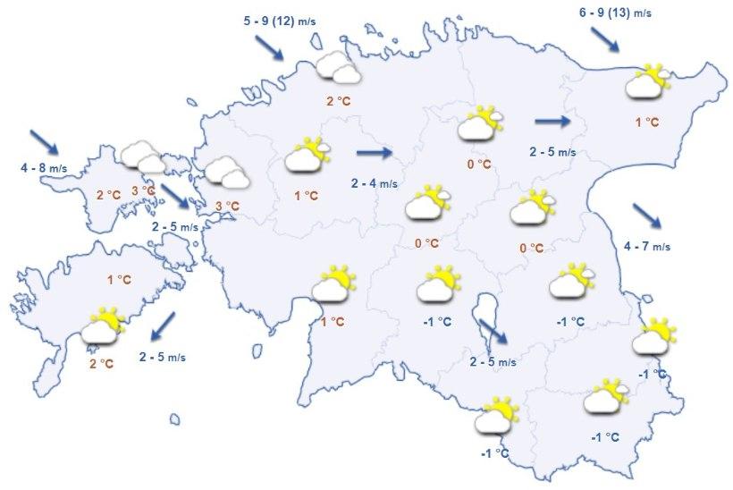 Ilm pöörab külmaks: alanud nädalal kisub temperatuur miinusesse ja puhub jahe tuul