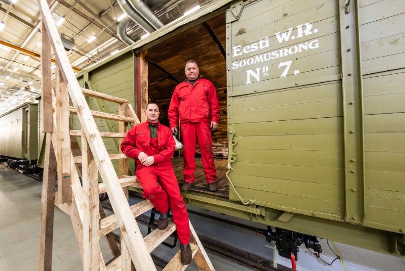 Vabadussõjaaegse soomusrongi ehitanud Oleg ja Vasili varem rongi ehitanud ei olnud