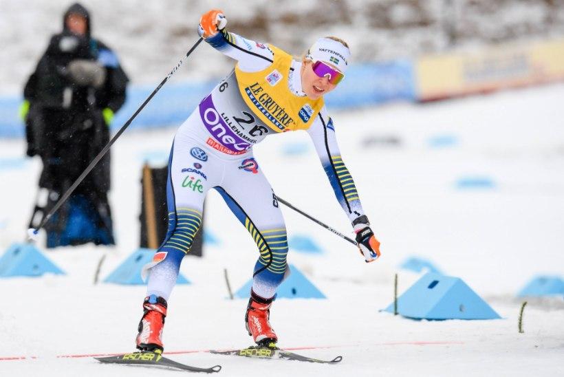 Suusasprindi võidud Itaaliasse ja Rootsi, Kläbo murdis kepi