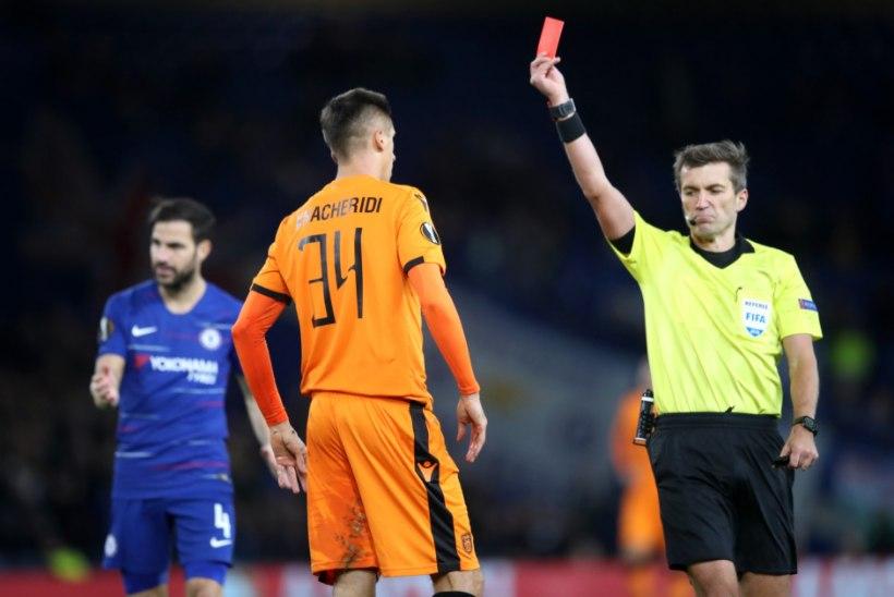 VIDEO | Eesti arbiiter andis Chelsea mängus kiire punase, jalgpalliliidu peakohtunik Uno Tutk: tundus, et ta sai mänguga oodatul tasemel hakkama