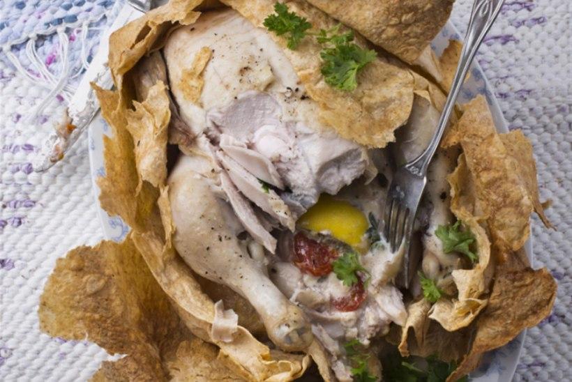 Lavaššis küpsetatud kana