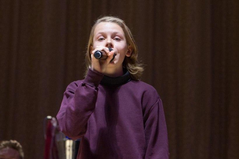VIDEO   Mart Poomi 14aastane poeg Andreas säras Estonia lavalaudadel