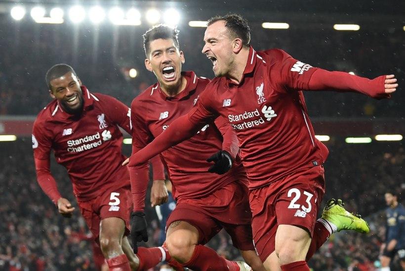 VIDEO | Liverpool pani Manchester Unitedi siruli, jätkab imelist seeriat ja tõusis taas liidriks