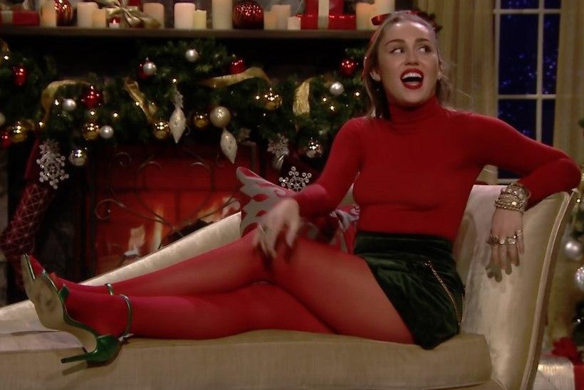 Miley Cyrus tegi populaarsest jõululaulust feministliku hümni!