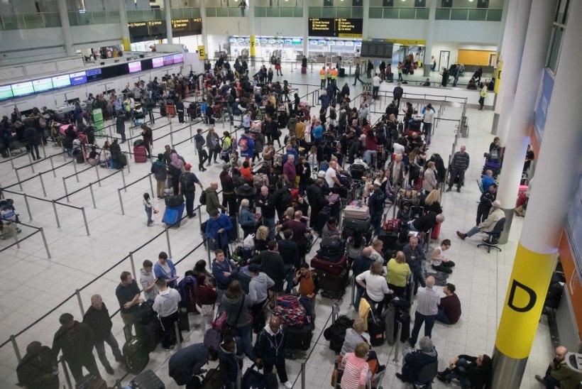 Eestlane Gatwicki lennujaamas: olukord oli kaootiline, informatsiooni vähe ja endast väljas inimesi minu ümber palju