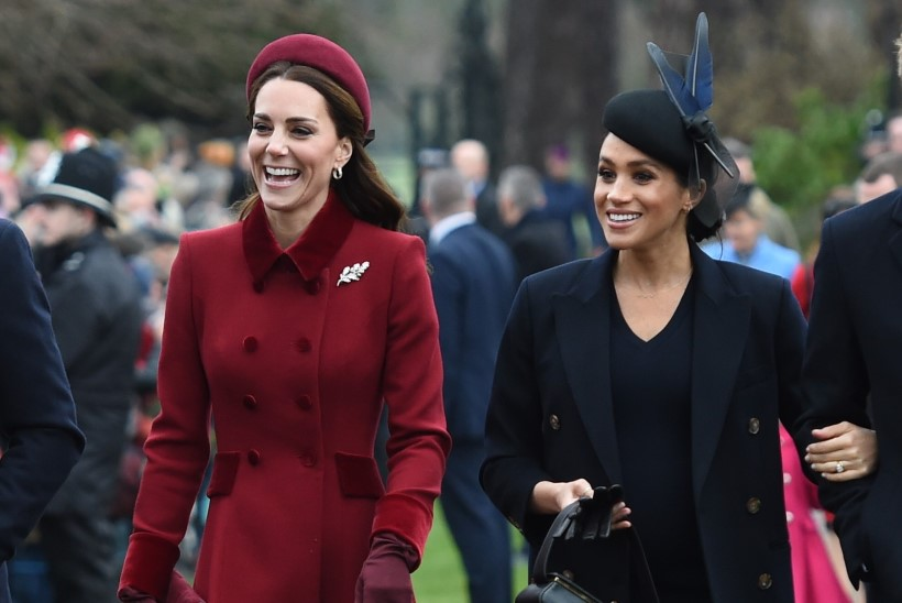 FOTOD   Kehakeeleekspert: Meghan ja Kate püüavad näidata oma head läbisaamist, kuid see tundub näideldud