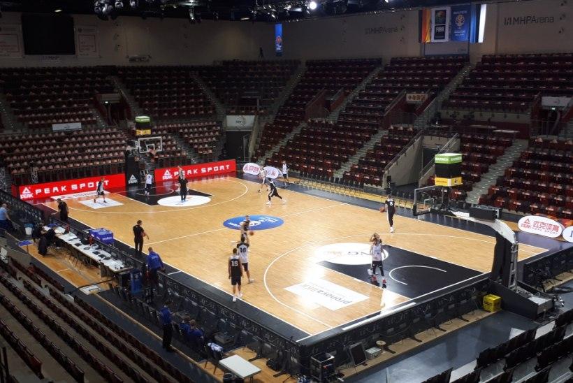 ÕL LUDWIGSBURGIS | Fotod: selles saalis hakkab Eesti korvpallikoondis mängima Saksamaaga