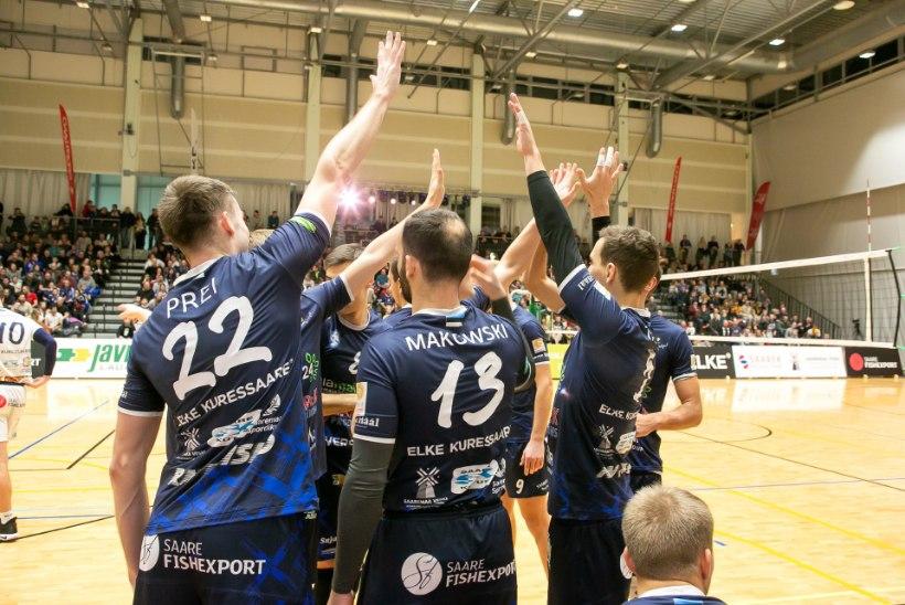 Saaremaa võrkpallurid lähevad tugeva Prantsusmaa klubi vastu enesekindlalt