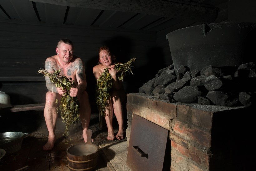 """Merca kütab sauna: """"Kui sann pannakse kütte, lähevad kalad lavale. Kui inimene läheb sanna, võetakse kalad välja."""""""