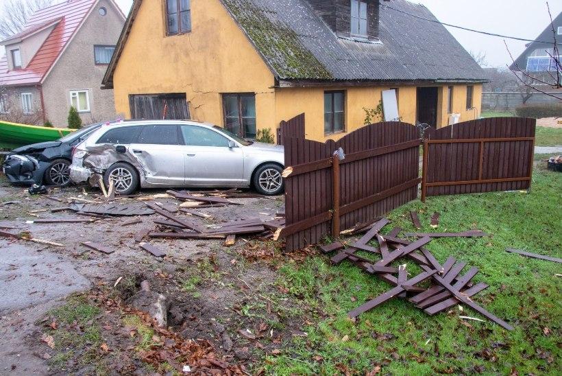 Kuressaares eramu aeda ja kolme sõidukit ramminud mees saadi kätte