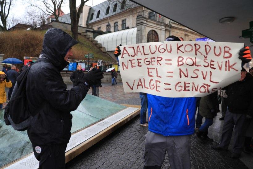 Фото: на Вабадузе проходит демонстрация против миграционного пакта ООН