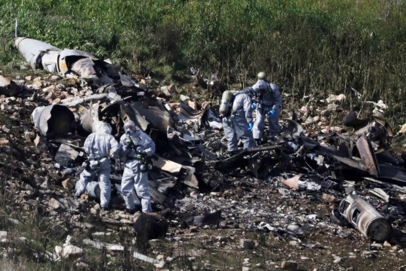 FOTOD | Süüria õhutõrje lasi alla Iisraeli hävitaja