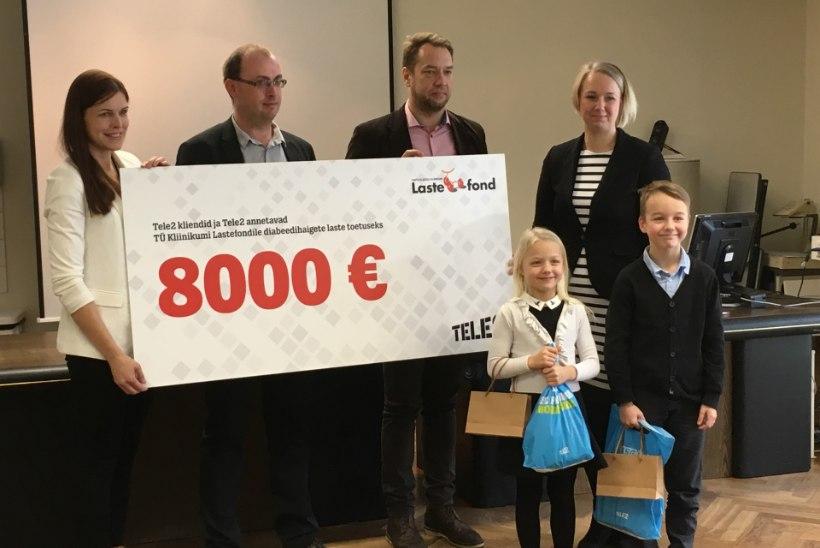 Tele2 kogus vanade mobiilidega diabeedihaigete laste toetuseks 8000 eurot