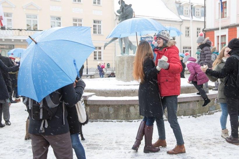 VIDEO JA GALERII | Sõbrapäeva 30 musi: Raekoja platsil oli palju suudlevate tudengite kujusid