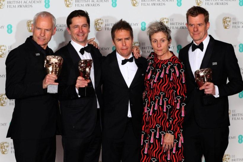 """Bafta-auhinnad jagatud! Parim film on """"Kolm reklaamtahvlit linna servas"""""""
