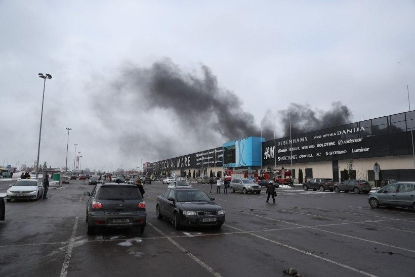 PÄÄSTEAMETI VIDEO   Vaata, kuidas kustutati Rocca al Mare kaubanduskeskuse tulekahju