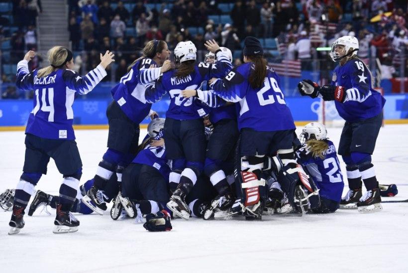 Milline hokifinaal: USA ja Kanada naised selgitasid olümpiavõitja karistusvisetega!