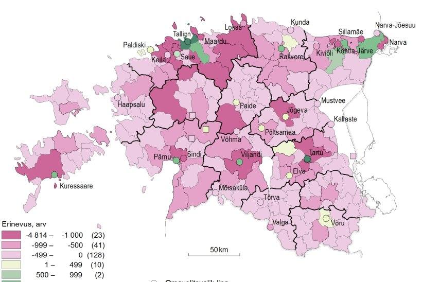 Enamik Eesti inimestest on vähemalt päeviti linlased