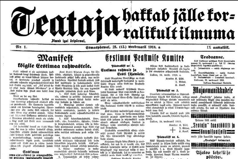 SADA SÜNDMUST, MIS MÕJUTASID EESTIT | 1. koht: elagu iseseisew demokratiline Eesti wabariik!