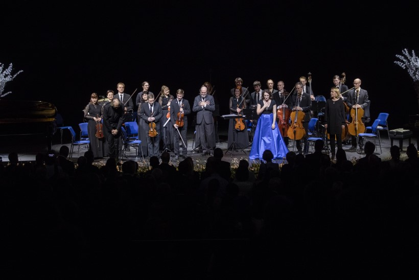 GALERII   Nordea kontserdimaja publik kutsus Arvo Pärdi kolm korda lavale tagasi