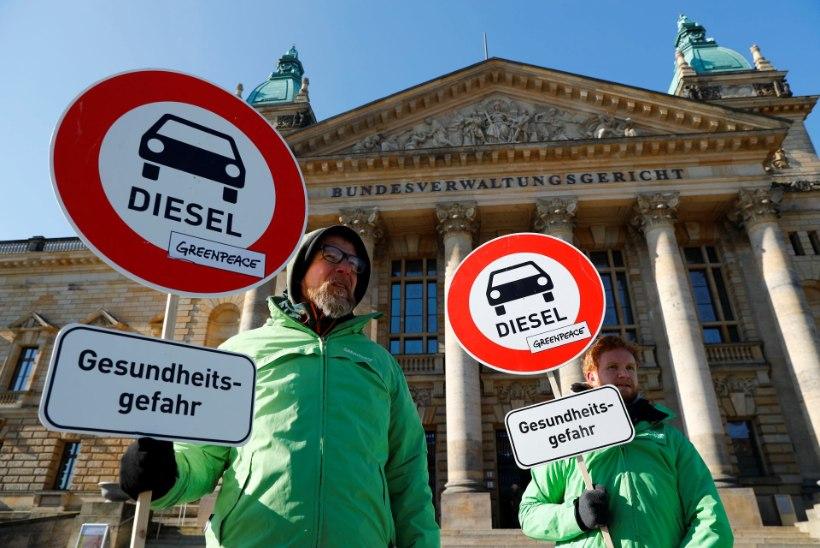 Saksa kohus andis loa õhureostuse piiramiseks diiselautod ära keelata