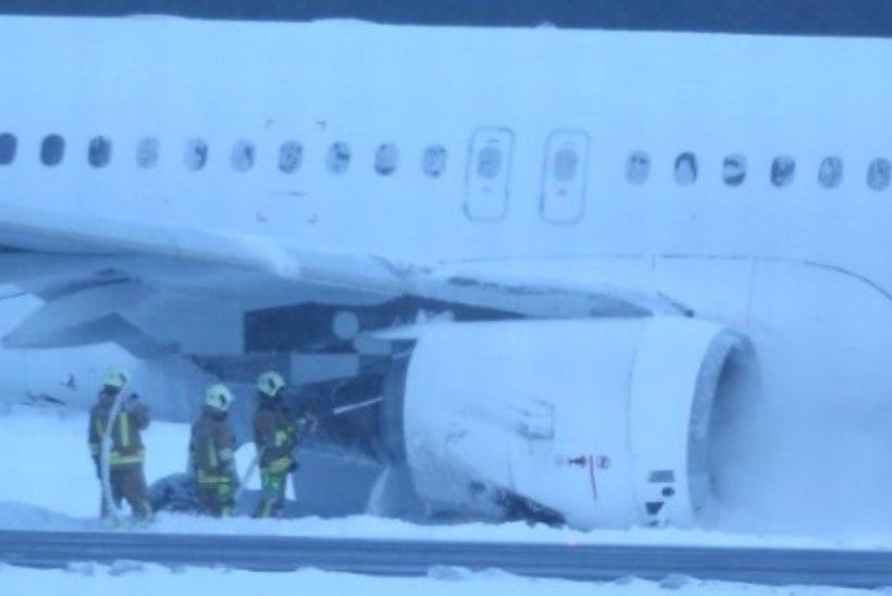 FOTOD JA VIDEO SÜNDMUSKOHALT | SmartLynxi lennuk tegi Tallinna lennujaamas hädamaandumise