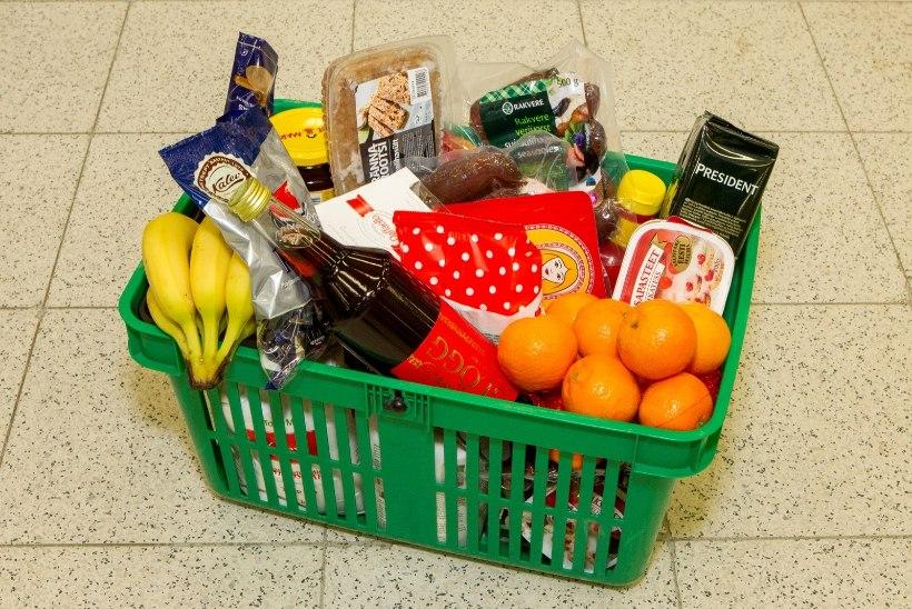 GRAAFIK | Toidukaupade hinnad on aastaga tõusnud pea kuus protsenti