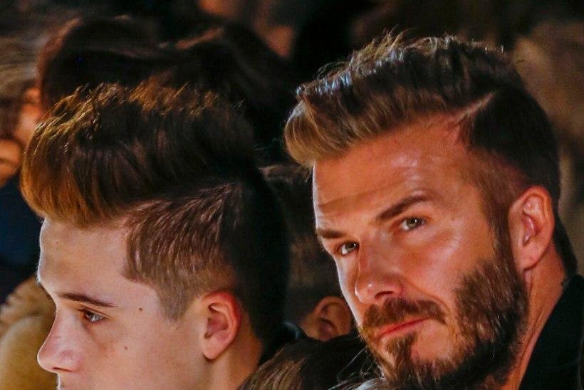 PÄEV ISSIGA: vaata, kuidas David Beckham veetis päeva lastega kelgutades