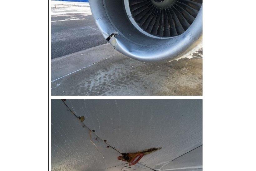 FOTOD   Vaata, millised olid Tallinnas hädamaandunud lennuki kahjustused