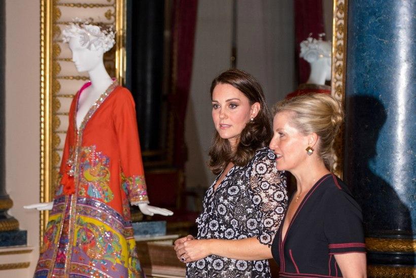 TROTSIDES KÜLMA JA LIBEDUST: rase Kate Middleton tippis kõrgetel kontsadel jääs ja lumes