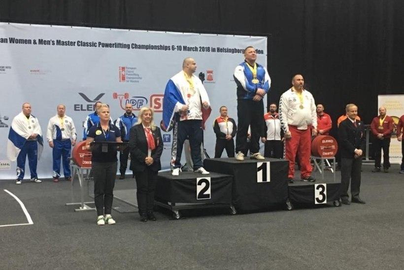 Eesti vägilane võitis jõutõstmise EMilt kuldmedali