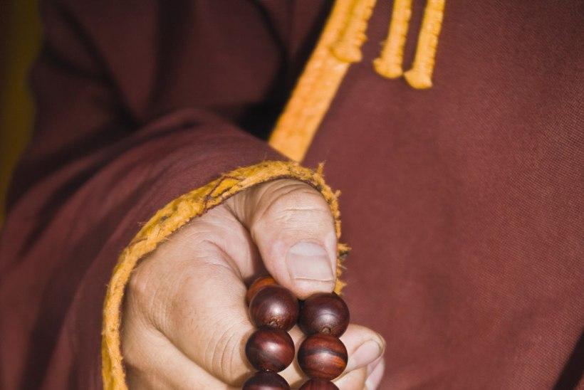 ÕNNISTUS BUSSIS: munk vaatas naist, ajas jalad laiali ja masturbeeris