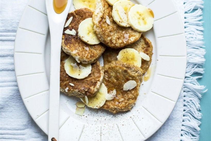 Kaerapannkoogid banaaniga
