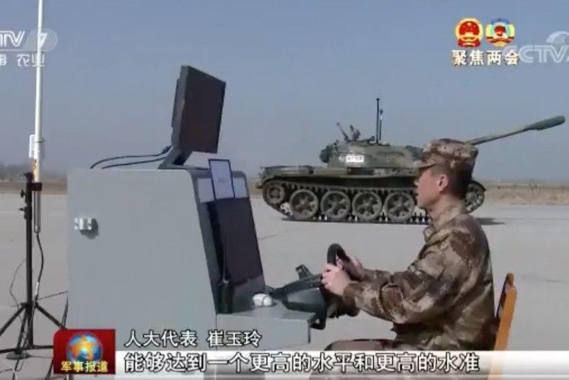 Hiina armee eksperimenteerib kaugjuhitavate tankidega