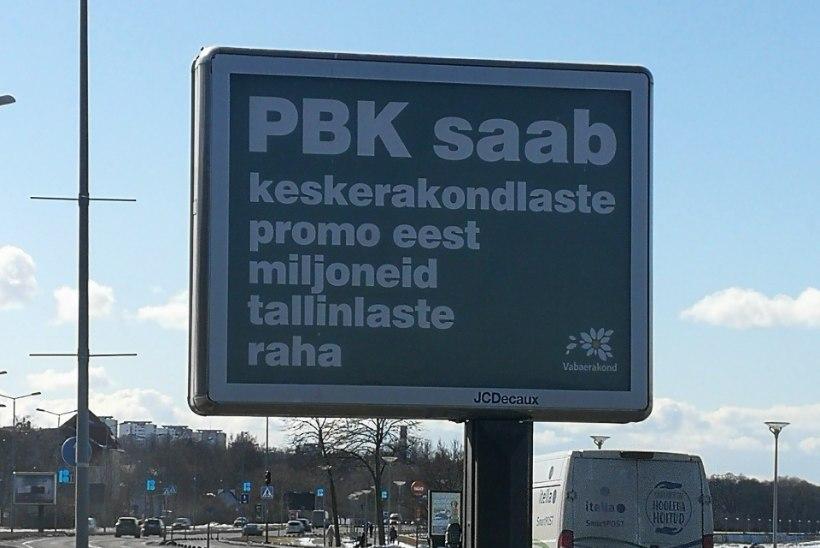 FOTOD   Vaata, kuidas ründavad Vabaerakonna kolm reklaamtahvlit Keskerakonda