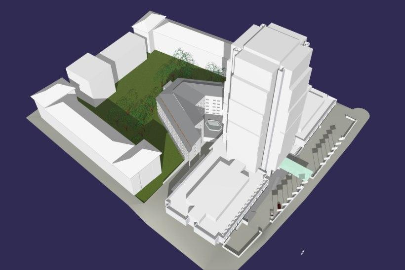 Tants ümber detailplaneeringu: naabrid on Olümpia hotelli juurdeehitusele vastu punninud seitse aastat