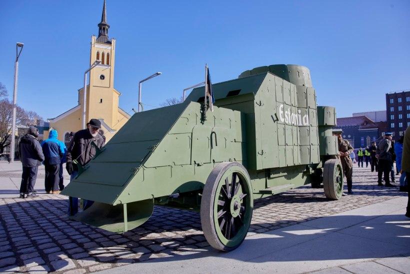 GALERII ja VIDEO   Kaitseliit taastas Eesti esimese soomusauto Estonia