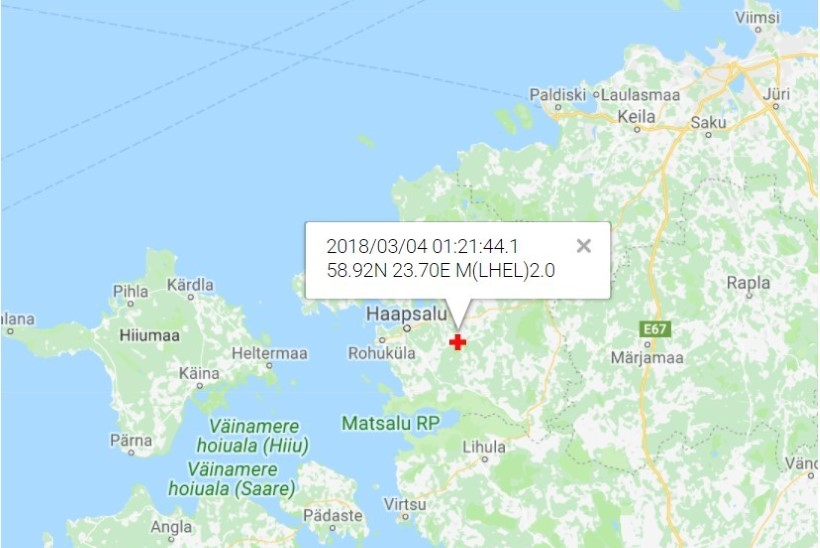 Lääne-Eestis oli öösel maavärin