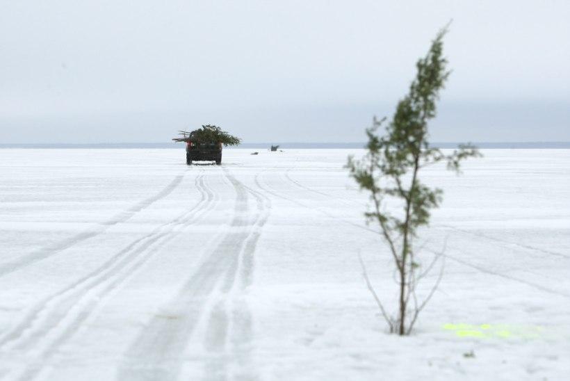 Narva veehoidla jääle on lubatud väljuda ka maastikusõidukiga