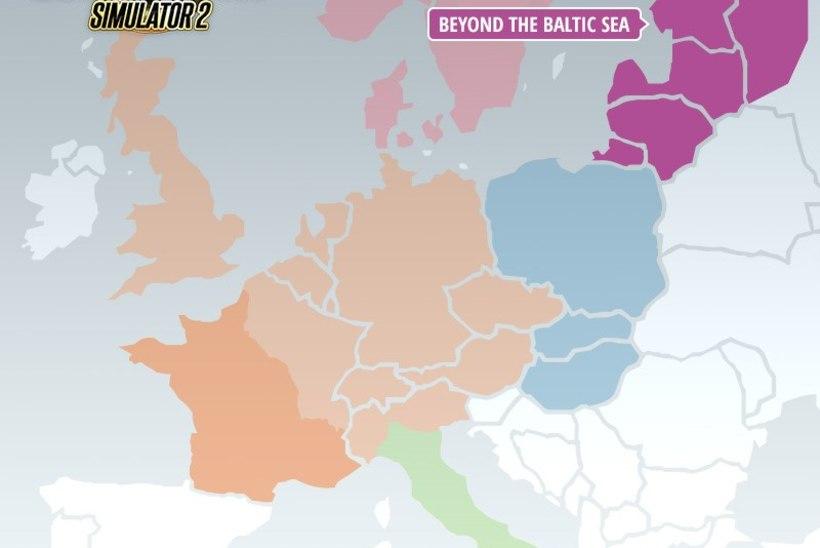 """Automäng """"Euro Truck Simulator 2"""" lisab peagi võimaluse ka Eesti maanteedel sõita"""