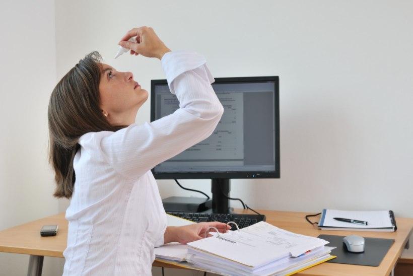 KAITSE SILMI: vähenda ekraanide vaatamist, kasuta niisutavaid tilku ja pilguta palju