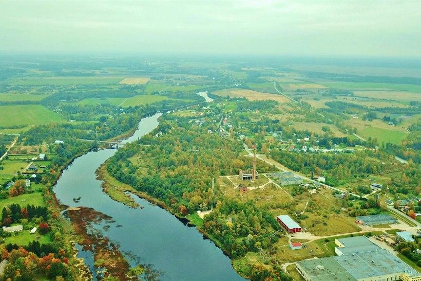 Pärnu jõgi Sindi paisu langemise eelõhtul
