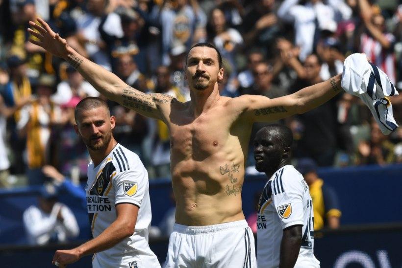 VIDEO   LEGEND! Zlatan lõi debüütmängus briljantse värava, Galaxy tuli rongi alt välja