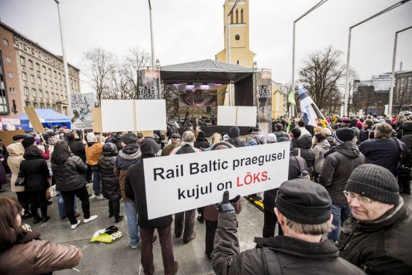 Üle neljasaja ühiskonnategelase nõuab: valeinfo põhjal vastu võetud Rail Balticu seadus tuleb tühistada!